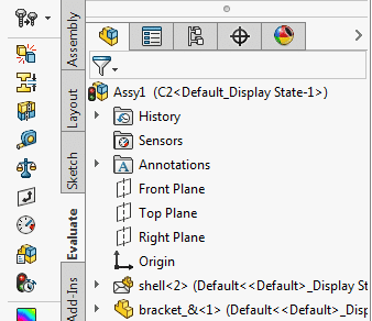 envelope icon feature tree