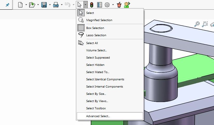 SOLIDWORKS advanced select