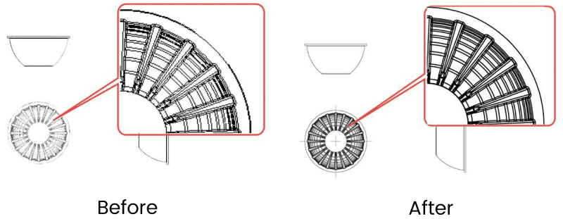Low quality solidworks drawing view