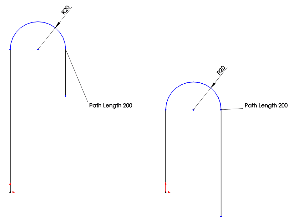 solidworks sketch paths model rope