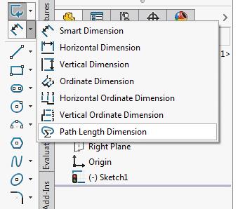 solidworks path dimension