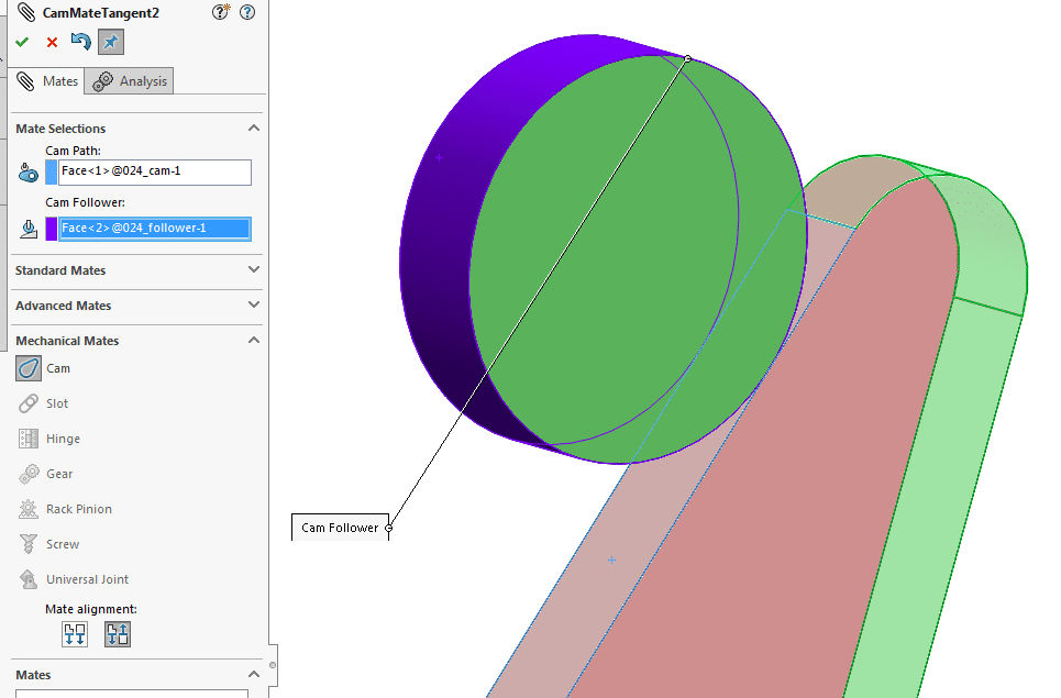 Cam mate for SOLIDWORKS: 6 tips to get started (+ sketch paths)