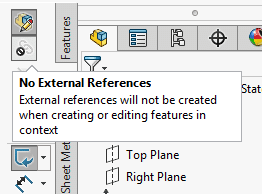 solidworks part no external references