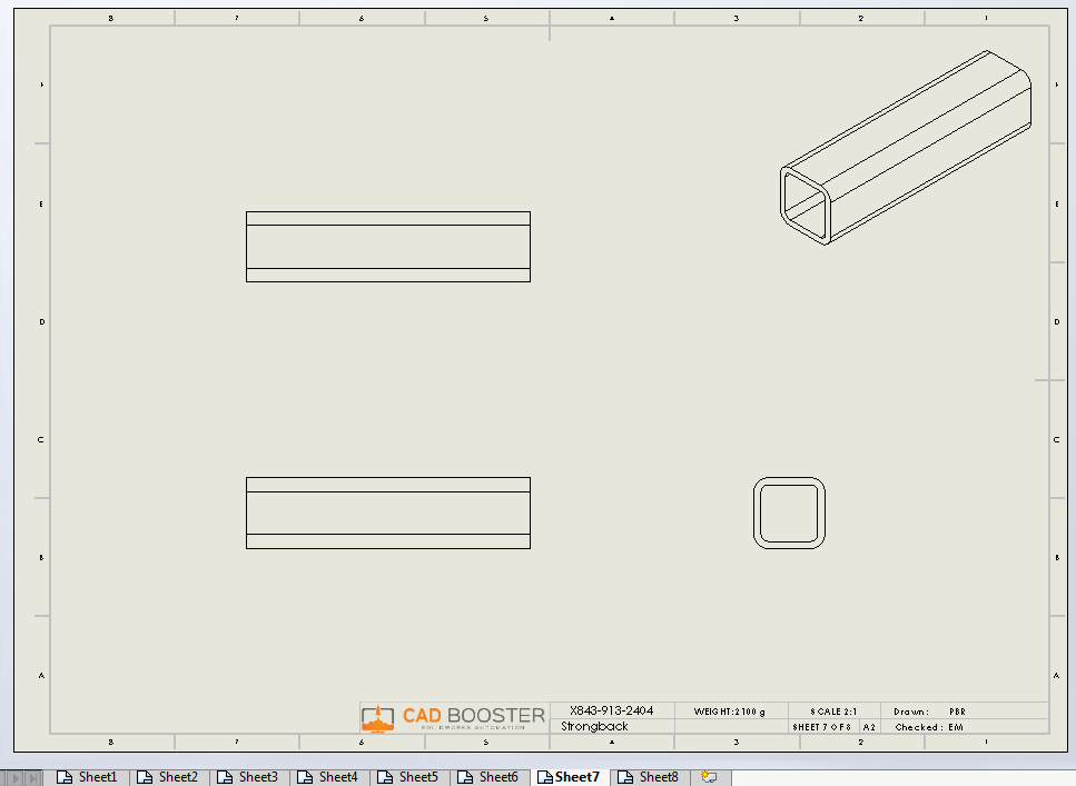 Drew solidworks weldments
