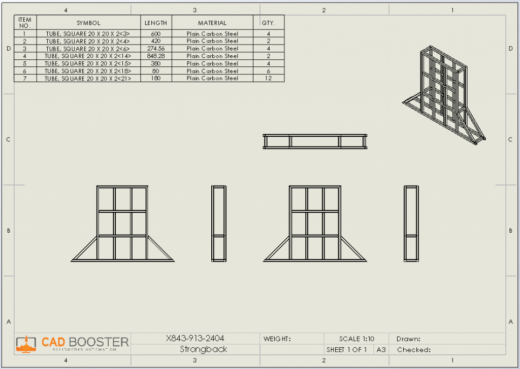 solidworks weldment cut list