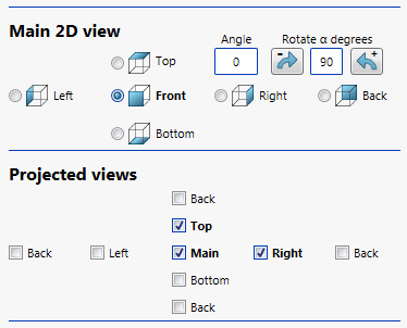 Drew 2D view settings options autofit