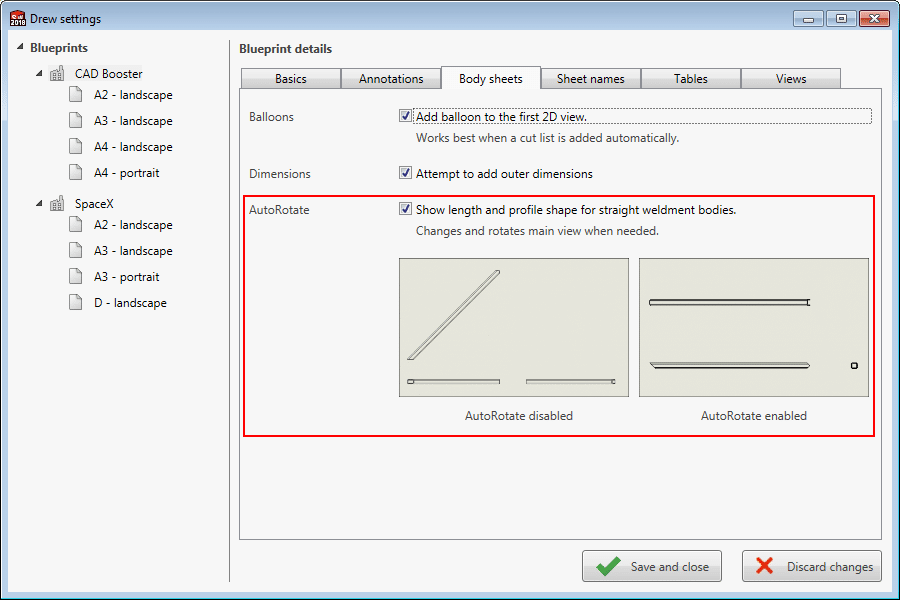 Solidworks weldment view rotation 2