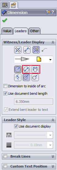 solidworks radius dimension diameter