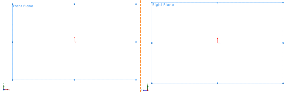 sketch transformations for front and right plane