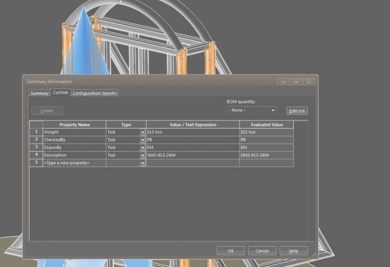 solidworks custom properties cut list