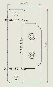 flat pattern show bounding box