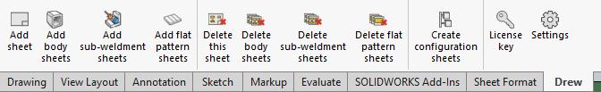toolbar body sheets flat patterns configuration copy