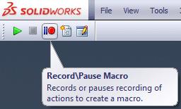 record solidworks macros