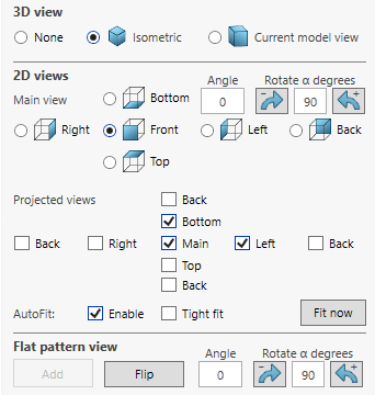 solidworks drawing automation first angle projection